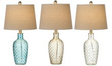 3 pc. ppk. Translucent Basket Weave Accent Lamp. 40W Max. (3 pc. ppk.)