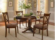 "Oval Pedestal Table W/1-18"" Leaf"