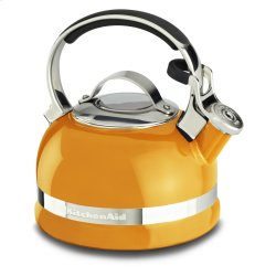 2.0-Quart Kettle with Full Stainless Steel Handle and Trim Band - Mandarin Orange