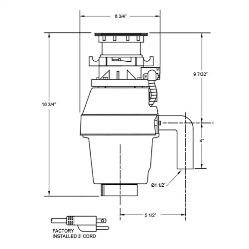 1/2 HP Twist Lock Mount, Batch Feed Disposal