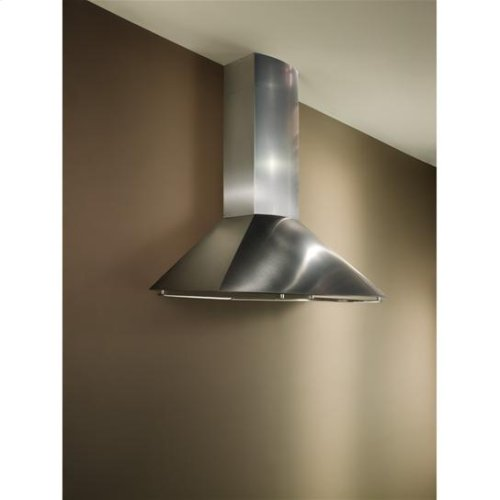 """35-7/16"""" Stainless Steel Range Hood with External Blower Options"""