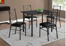 DINING SET - 5PCS SET / CAPPUCCINO / BLACK METAL Product Image