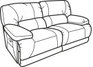 Fleet Street Leather Power Reclining Loveseat Product Image