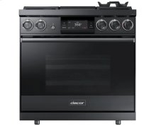"36"" Pro Dual-Fuel Steam Range, Graphite Stainless Steel, Liquid Propane"