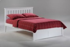 Rosemary Bed in White Finish