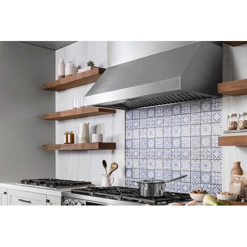 """Heritage 48"""" Pro Wall Hood, 18"""" High, Silver Stainless Steel"""
