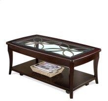 Annandale Rectangular Coffee Table Dark Mahogany finish