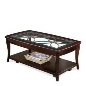 Annandale Rectangular Cocktail Table Dark Mahogany finish