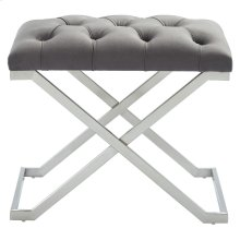 Aldo Single Bench in Grey and Silver