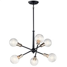 Armstrong 6 Light Chandelier Black