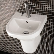 "Wall-mounted porcelain shroud for washbasins #2952, 2962, 4271, 4272, 4281, or 4281, 7""W x 11""D x 9 7/8""H"