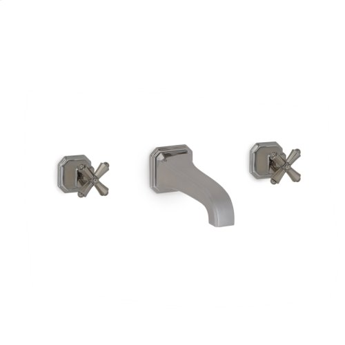 High Polished Platinum Harrison Cross Handles Wall Mount