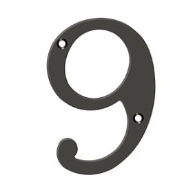 """6"""" Numbers, Solid Brass - Oil-rubbed Bronze"""