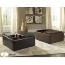 Cocktail Ottoman with Casters, Dark Brown Bi-Cast Vinyl Product Image