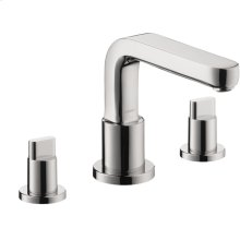Chrome 3-Hole Roman Tub Set Trim with Full Handles