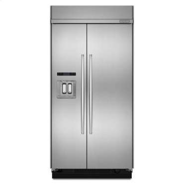 Stainless Steel KitchenAid® 29.5 Cu. Ft. 48-Inch Width Built-In Side-by-Side Refrigerator