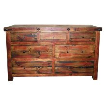 Red Rubbed Dresser