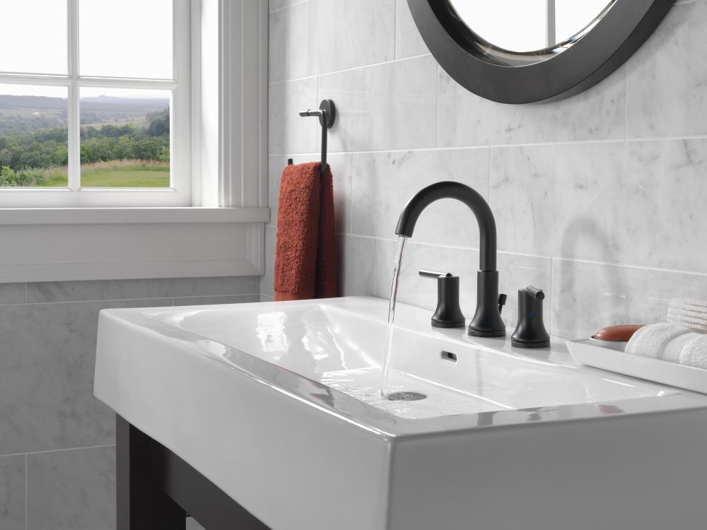Additional Matte Black Two Handle Widespread Lavatory Faucet