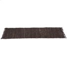 Brown & Black Leather Chindi 2'x6' Rug (Each One Will Vary) Product Image