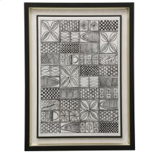 Patterns of The Amazon  Made in USA  Transitional Graphic Wall Art  Textured Framed Print