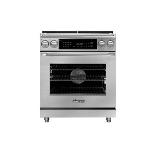 "Dacor30"" Heritage Dual Fuel Epicure Range, Silver Stainless Steel, Natural Gas"