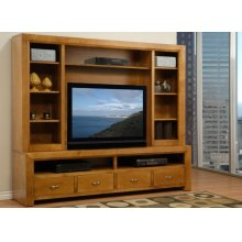 82'' Contempo HDTV Console w/ Hutch with 54'' TV Opening