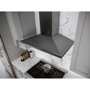 Zephyr36-In. Anzio Chimney-Style Hood in Black Stainless
