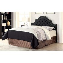 Ojai Traditional Charcoal Upholstered Queen Headboard