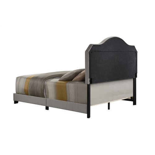 Emerald Home Upholstered Queen 5/0 Headboard-footboard-siderails Gray #mineral M10144