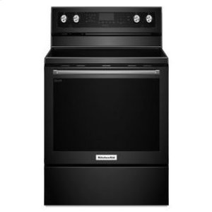 KitchenAid® 30-Inch 5-Element Electric Convection Range - Black -