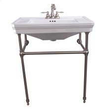 """Drew 30"""" Console with Brass Stand - 4"""" Centerset / Brushed Nickel"""