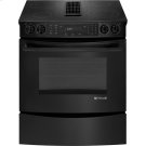 "30"" Slide-In Electric Downdraft Range with Convection, Black Floating Glass w/Handle Product Image"
