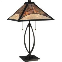 Mica Table Lamp in Darkest Bronze
