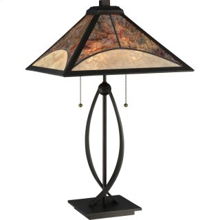 Mica Table Lamp in Darkest Bronze