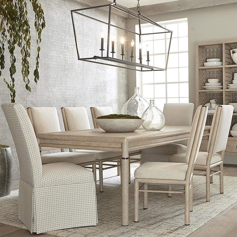 Ordinaire Peninsula Rectangular Dining Table