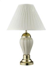 Becka Ivory/Gold Table Lamp