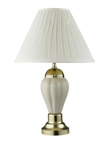 Becka Ivory/Gold Table Lamp