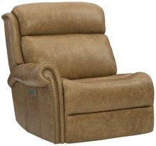 Evan Left Arm Power Motion Chair in #44 Antique Nickel
