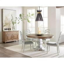 Madison - Round Pedestal Dining Table Top - Caramel Finish