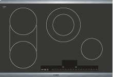 "30"" Stainless Steel Electric Cooktop with Touch Control 500 Series - Black and Stainless Steel NET5054UC"