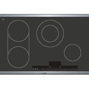 "Bosch30"" Stainless Steel Electric Cooktop with Touch Control 500 Series - Black and Stainless Steel NET5054UC"