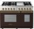 Additional Range DECO 48'' Classic Brown dual color, Bronze 6 gas, griddle and 2 gas ovens