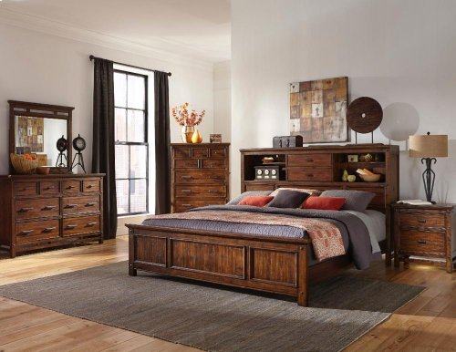 Cal King/King Bookcase Headboard