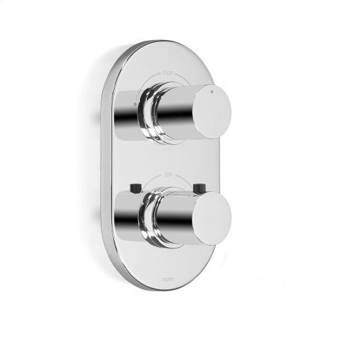 Nexus® Thermostatic Mixing Valve Trim with Dual Volume Control - Polished Chrome Finish