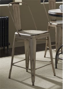 Bow Back Counter Chair - Vintage White (RTA)