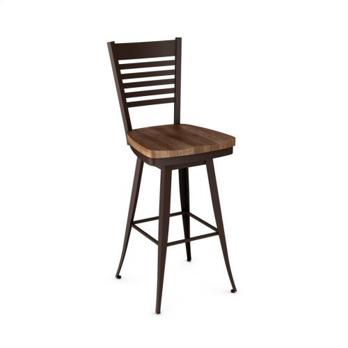 Edwin Swivel Stool (wood)