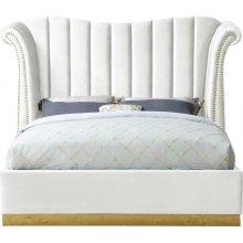 "Flora Velvet Bed - 97"" W x 88"" D x 63"" H"