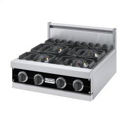 """Black 24"""" Sealed Burner Rangetop - VGRT (24"""" Wide, four burner)"""