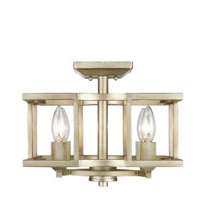 Bellare Convertible Semi-Flush in White Gold