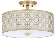 Vera 3 Light 15.5-INCH Dia Gold Flush Mount - Gold Shade Color: Off-White